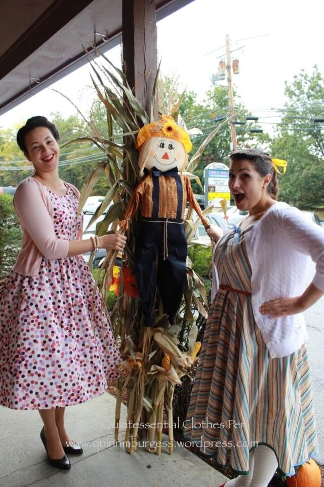 Shaking hands with Mr. Scarecrow.