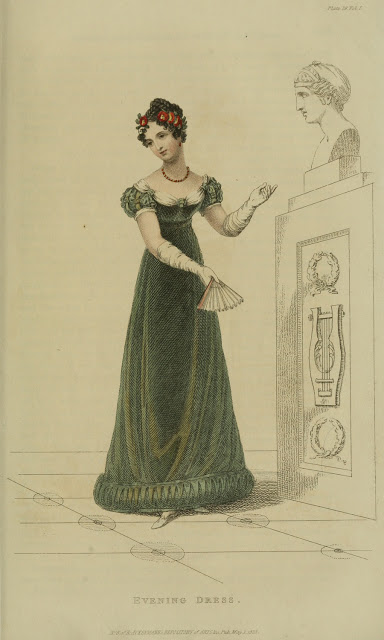 Ser3 v1 1823 Ackermann's fashion plate 29 - Evening Dress